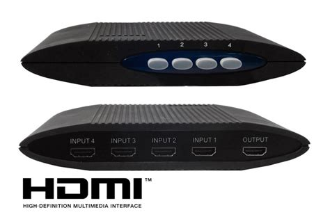 Switcher Multi Input 4 Port Splitter Hdmi With Wall Controller apple tv foxtel compatible 4 port hdmi switcher