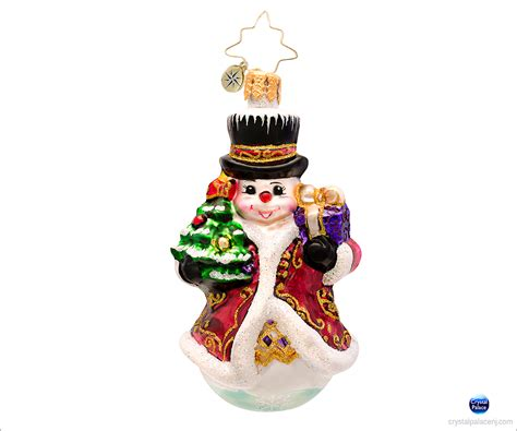 christopher radko fancy frost gem christmas ornament