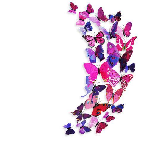 C40 Wallpaper Sticker Green With Butterfly aliexpress buy 3d pvc magnet butterflies diy wall sticker fashion butterfly wall