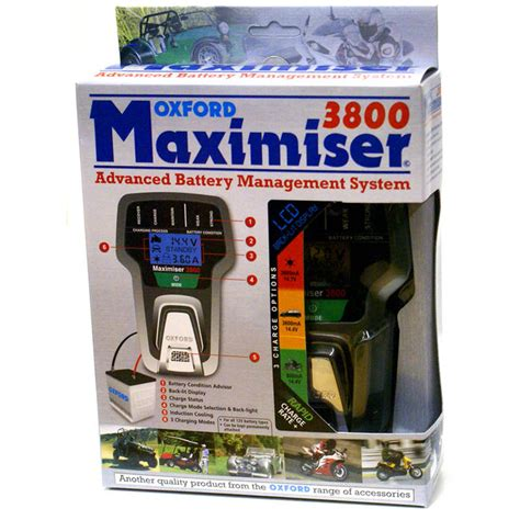 oxford chargers oxford maximiser 3800 battery charger oxford