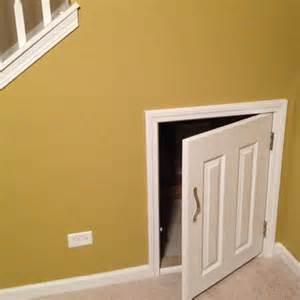 Access door for under stair storage home pinterest