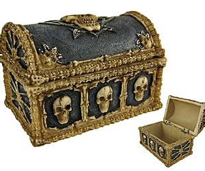 Rest Your Bones On The Box by Skull And Bones Trinket Box Buy This Bling