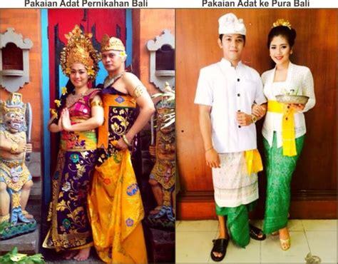 contoh busana pernikahan khas adat bali kebudayaan bali tarian bali rumah adat pakaian adat