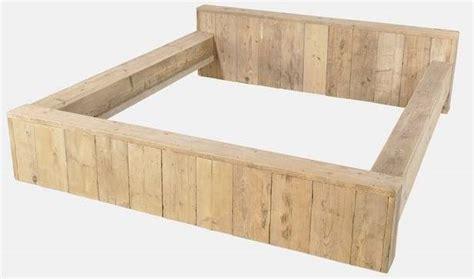 Bouwtekening Pallet Bed by Bed Maken Steigerhout Ledikant Gratis Bouwtekening