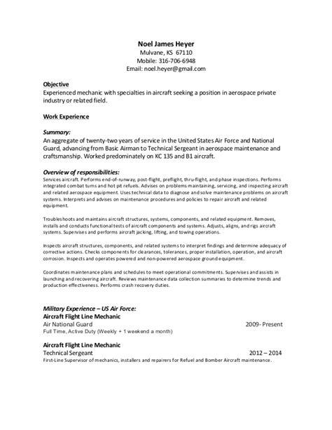air crew chief resume resume ideas