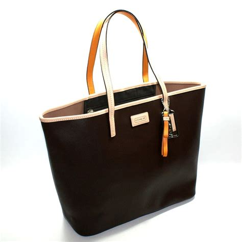 Coach Park Metro Leather Mahogany Tote #24341   Coach 24341