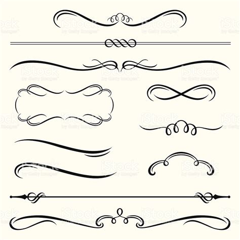 printable decorative shapes bordas e quadros decorativos arte vetorial de acervo e