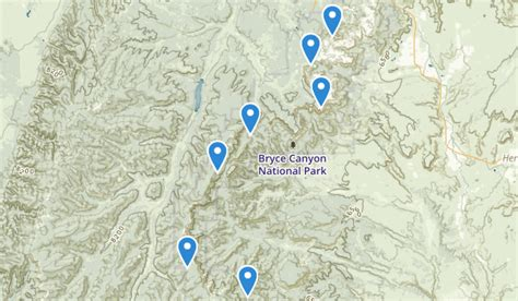 bryce hiking map best trails near bryce utah alltrails