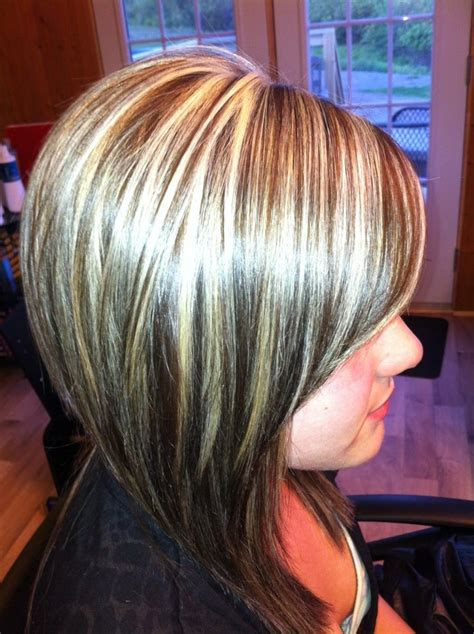 foil highlights for brown hair foil highlights pictures long hairstyles