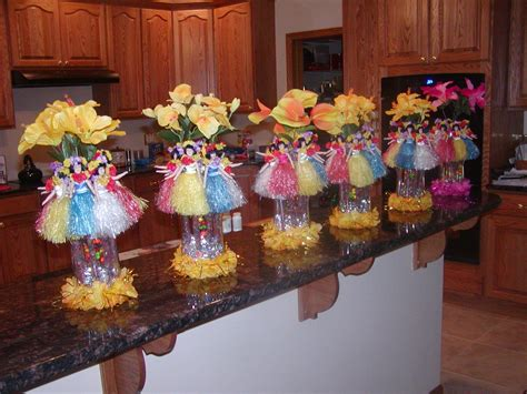 luau centerpieces margaritaville jimmy buffett