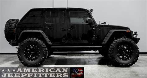 black customized jeep wranglers black lifted 4 door jeep wrangler www pixshark com
