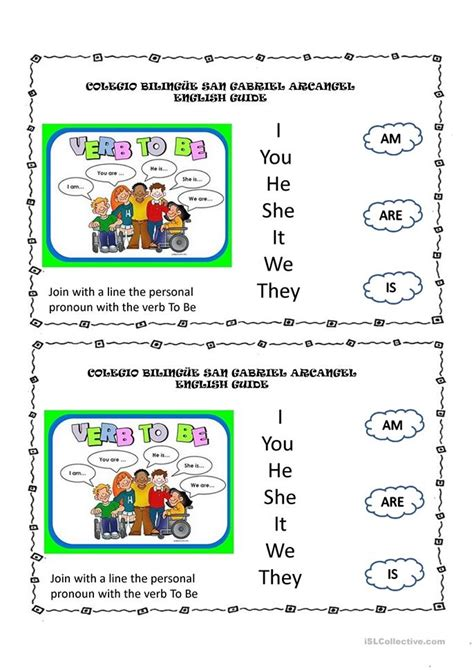 verb to be worksheet free esl projectable worksheets made by teachers