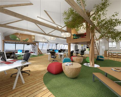 Creative Offices a treehouse in the office yes please workplace design