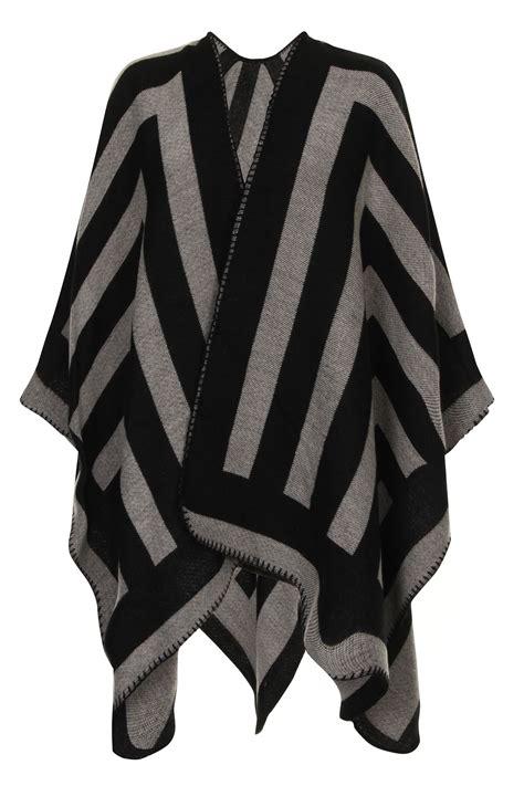 Trico Tartan femme femme tricot cape wrap hiver tartan carreaux