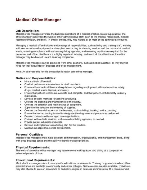 cover letter sle office manager 28 images cover letter