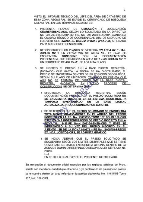 directiva n004 2004 sunarp modelo de demanda de prescripci 211 n adquisitiva de dominio