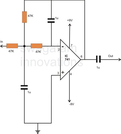 low pass filter circuits how to make a simple active low pass filter circuit using ic 741 circuit diagram centre