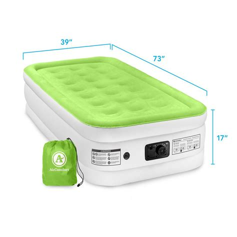air comfort easy size raised air mattress 6201trb vip outlet