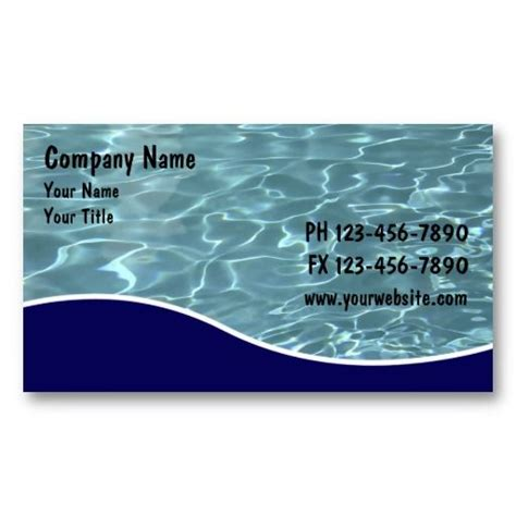 Pool Business Card Templates by 19 Best Pool Service Business Cards Images On