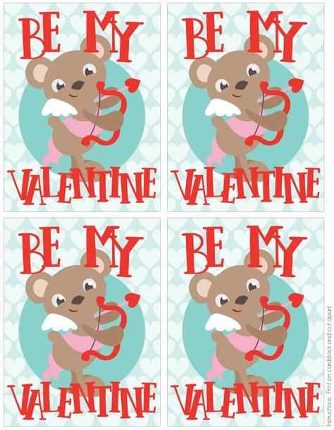 animal valentines free printable animal valentines my filled
