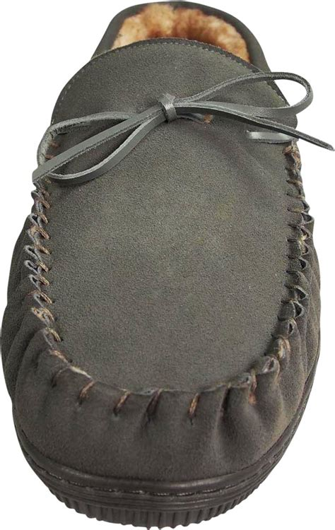 Cowhide Suede by Norty Mens Genuine Leather Cowhide Suede Slippers