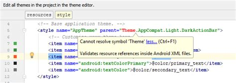 Android Cannot Resolve Symbol Theme by Dominoc925 2018