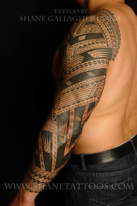 shane tattoos polynesian sleeve chest tatau tattoo shane tattoos polynesian samoan sleeve tattoo on sonny