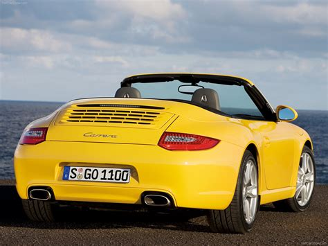 yellow porsche 2009 yellow porsche 911 carrera wallpapers