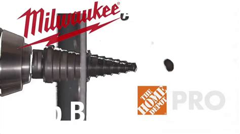milwaukee step drill bits the home depot