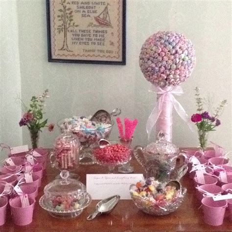 baby shower candy buffet baby showers pinterest