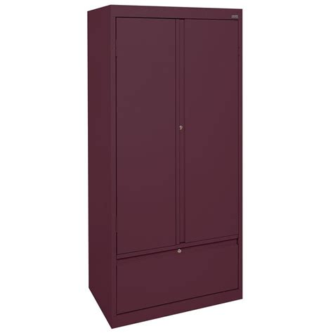 Sandusky Storage Cabinet Sandusky Systems Series 30 In W X 64 In H X 18 In D Storage Cabinet With File Drawer In