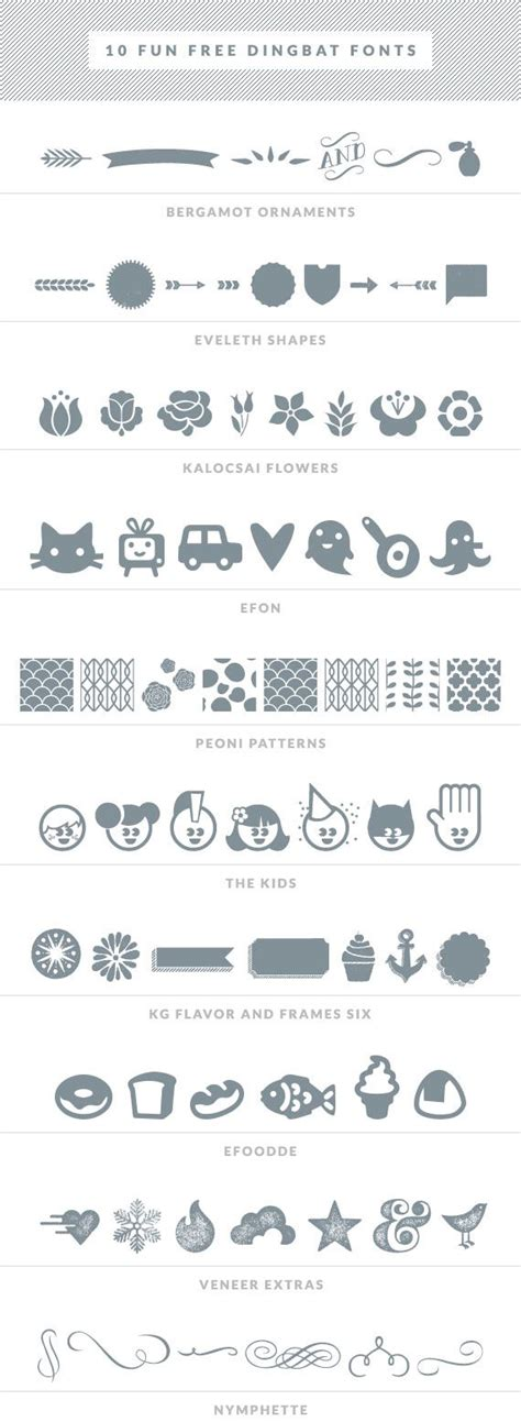 Wedding Font Dingbats by 25 Best Ideas About Free Dingbat Fonts On