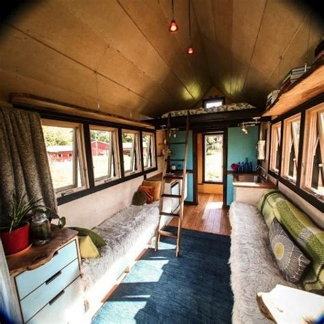 trailer homes interior small mobile home created with salvaged wood