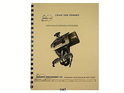Foley Belsaw Model 357 Carbide Saw Grinder Operator