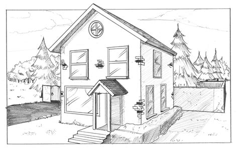 one point perspective house sketchbook homework mrs brown s art room