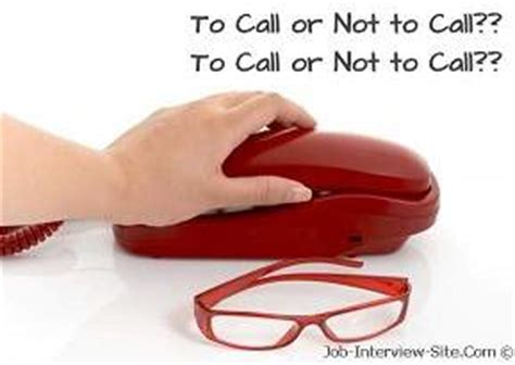 calling after an follow up phone call after an