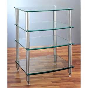 Glass Audio Rack Vti 4 Shelf Audio Rack With Glass Shelves Silver Agr404s