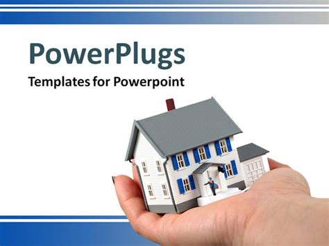free real estate powerpoint templates a holding a small house powerpoint template