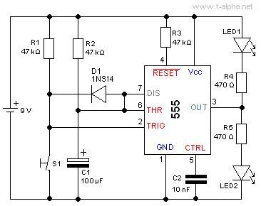 555 timer integrated circuit f alpha net experiment 13 retriggerable monoflop