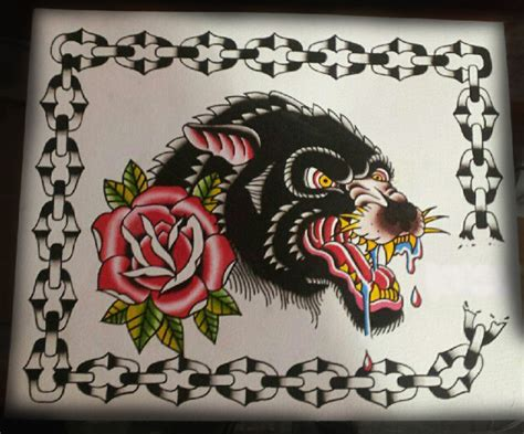wolf and rose by mikeattacktattoo on deviantart