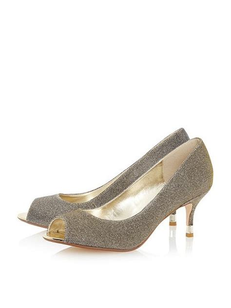 Dunes Perfume Peep Toe Heel by Dune Peep Toe Kitten Heel Court Shoe House Of Fraser