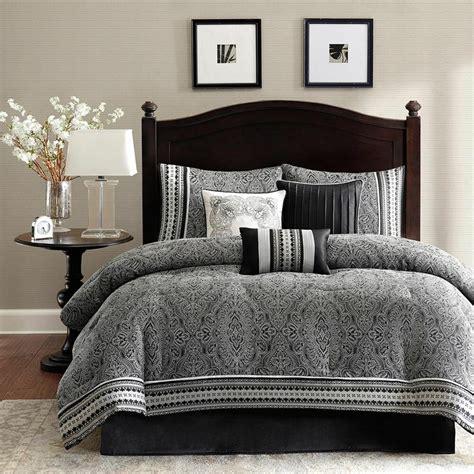 Modern Sets by Beautiful Rich Modern Grey Black White Comforter