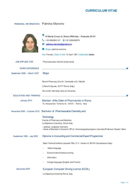 Technical Proficiency Resume Examples by Cv Mancino English