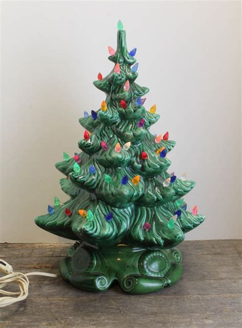 vintage musical lighted ceramic christmas tree 17 quot tall