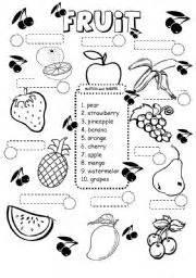esl kids worksheets fruit worksheet