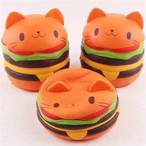 Jumbo Gudetama Hamburger Squishy Rising Orange jumbo rising squishies kawaii cat hamburger