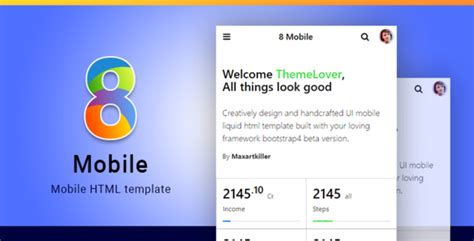 8 mobile bootstrap 4 mobile html template download 8