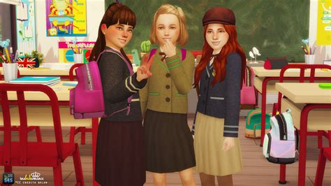 Chil School 4 my sims 4 school uniforms and scouts top for boys and by inabadromance