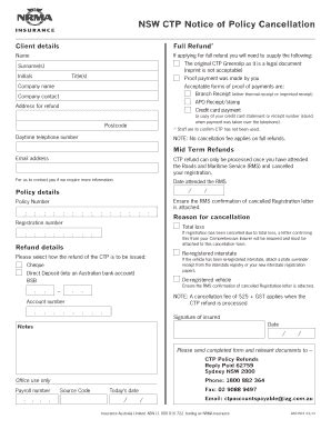 Ctp Insurance Quote by Nrma Green Slip Fill Printable Fillable Blank