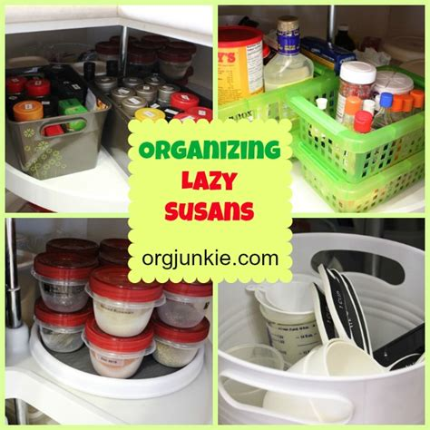 lazy susan organizer ideas organizing lazy susans